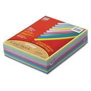 PACON Paper, Ary, 65lb.Cardstock, Ast, PK250
