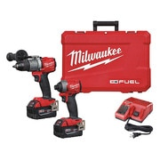 Milwaukee 2801-20 M18 Li-Ion Compact Brushless Drill Driver 1//2 2.0 Ah Batteries