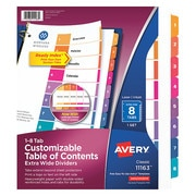 """AVERY 11116 Insertable Tab Dividers 8-1//2 x 14/"""" Clear PK8"""